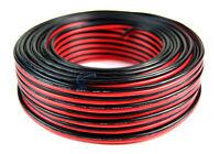 100' Feet 16 GA Gauge Red Black 2 Conductor Speaker Wire Audio Cable Audiopipe
