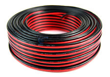 100' Feet 16 GA Gauge Red Black 2 Conductor Speaker Wire Audio Cable Audiopipe