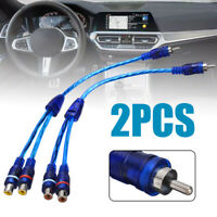 2pcs 30cm RCA Mic Audio Cable Y Splitter Adapter Cable 1 Male to 2 Female