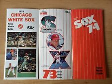 LOT OF 6 CHICAGO WHITE SOX MEDIA GUIDES 1972-1980 EXMT-NM ADDITIONAL PAPERWORK