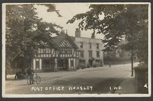 Postcard Worsley near Manchester Lancashire the Post Office early RP