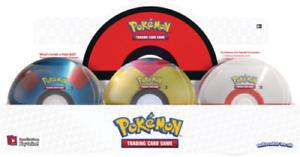 2021 Pokemon TCG Poke Ball SEALED 3 Booster Pack Tin SHIPS NOW *RANDOM STYLE*