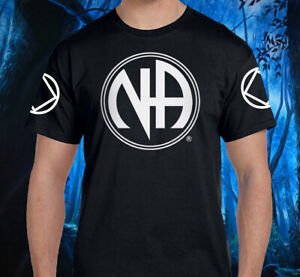 Narcotics Anonymous - LARGE NA SYMBOL  Tee -100% Cotton S-X Free Shipping