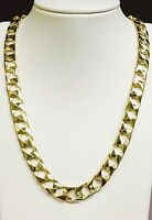 """10kt solid gold handmade Curb Link mens Chain/Necklace 30"""" 90 Grams 11MM"""
