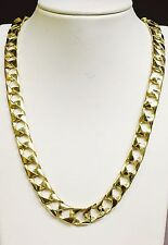 "10kt Solid Yellow Gold Handmade Curb Link Mens Chain/Necklace 20"" 60 Grams 11MM"