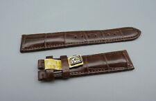 RRLM Orig CHRONOSWISS Leder Armband KROKO Braun brown leather 18mm TOP unbenutzt
