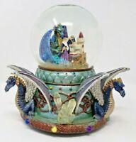 Vintage Merlin Wizard Dragon Musical Snow Globe