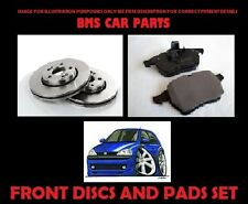 VAUXHALL CORSA C FRONT VENTED BRAKE DISCS AND PADS SET NEW (2 X 240mm DISCS)