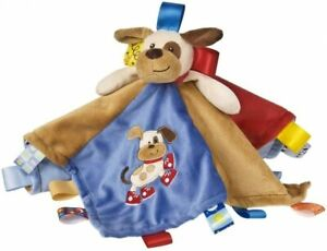 """Mary Meyer Taggies Buddy Dog Character Blanket 13""""x13"""" Plush Baby Toy"""