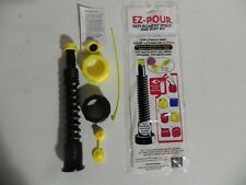 EZ Pour 1 Gas Can Nozzle Kit Blk New Thicker Gasket for Better Seal
