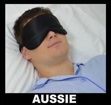 SLEEPING EYE MASK ~ 100% Pure SILK ~ Blindfold Travel Relax Sleep Soft Men ~ NEW