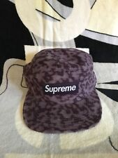 Supreme Fw14 Liberty Leopard Cord Camp Cap Purple