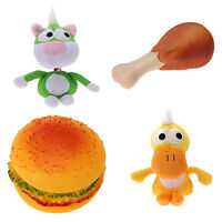 Pet Puppy Dog Plush Sound Toy Food Chew Squeaker Squeaky Hamburger Play Toy