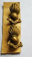 Two Collectable Original WW1 Royal Artillery Collar Badge Gilt Finish