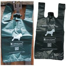 Scot-Petshop Large Dark Green Dog Waste Bags, Unscented Tie Handle Dog Poo Bags