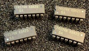 10pcs  X   74S74N Signetics DIP IC