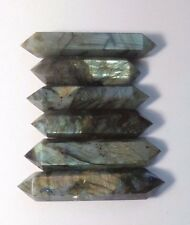 Lot of 6: Shiny Natural Labradorite Double Points 3.7-4 inch 348 grams 12.3 oz