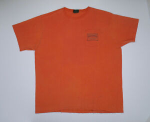 Vintage Polo Country T Shirt Ralph Lauren Large Dry Goods pocket salmon pink 67