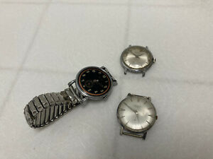 wristwatch lot of 3 STEELCO ELGIN RELLUM