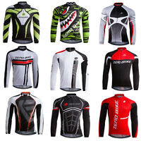 New Team Riding Outfits Wear Cycling Bike Long Sleeve Jersey Tops Breathable