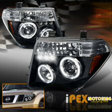 For Nissan 2005-2008 Frontier/Pathfinder ( Twin Halos ) LED Black Headlights