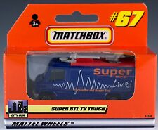 Matchbox Super RTL TV News Truck Blue #67 German Issue 1999 New In Box