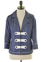 G-STAR Womens Overjacket 3/4 Sleeve Size 14 Medium Navy Blue Cotton