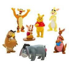 DISNEY Winnie the Pooh 7 x Figure Playset Cake Toppers **NEW** Tigger, Piglet