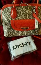 DKNY Beekman T&C W/French Grain Leather Bag Purse  NWT $305
