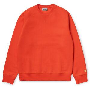 Carhartt WIP Chase Sweat Herren Copperton Gold Sweatshirt Pullover Orange