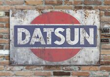 "DATSUN (#2) 10x8"" Retro Vintage Metal Advertising Sign Plaque Wall Art Pic"