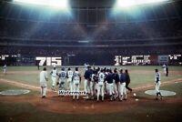 MLB Hank Aaron Atlanta Braves Home Run 715 Color 8 X 12 Photo Free Ship