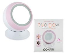 Conair True Glow Halo Lighted Mirror - White/Pink