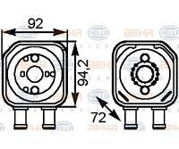 HELLA Ölkühler, Motoröl BEHR HELLA SERVICE   Audi A6 Avant A4 A4 Avant A6