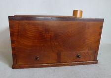 Vintage Japanese Keyaki Wood Hibachi & Tabako-bon Smoking Box