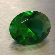 HIGH QUALITY Loose 7X9MM Oval Cut SIMULATED GREEN EMERALD / Glass