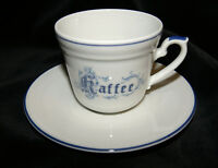 Kronester Porzellan - Rex Valenty Line - Omas Küche blau weiß Kaffee Gedeck