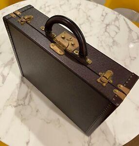 🚨 Louis Vuitton LV Burgundy Taiga Leather  President Classeur Vintage Briefcase