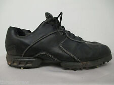 NIKE AIR TIGER WOODS BLACK LEATHER OXFORDS CLEATS GOLF SPIKES 9 mens 317612^146