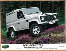 Land Rover Defender X Tech special edition for 2000 original Press Photo 0034