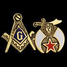 Mason Blue Lodge/Shriner Lapel Pin - Shriner Masonic Combo Lapel Pin