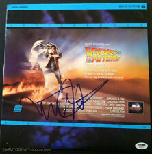 "Michael J Fox Autographed ""Back To The Future"" Laser Disc Signed PSA DNA"