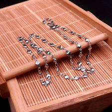 5pcs in bulk Female  Stainless Steel elegant Heart Link chain necklace 4mm 18''