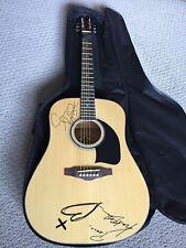 BoDeans Autographed Acoustic Guitar (Kurt & Sammy) 2010 - Washburn Lyon w Case