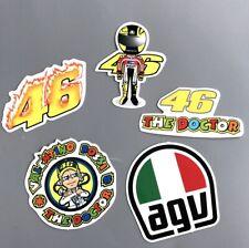 [Lot de 5] Autocollant Sticker Voiture Moto casque Motard Valentino Rossi 46 agv