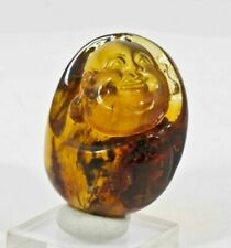 4.5cm Happy Buddha Chinese Carving of Mexican AMBER from Chiapas, Mexico 31069