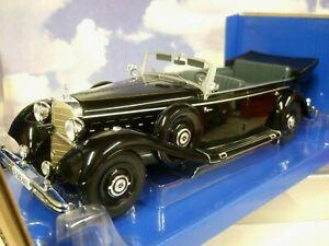 MCG 1/18 DIECAST 1938 MERCEDES-BENZ 770 (W150) CABRIOLET GERMAN STAFF CAR BLACK