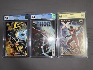 Thor #2 1:25 CGC 9.2 , Major X #1 CBCS 8.5, LOSH #6 CGC 9.8 Lot Of 3