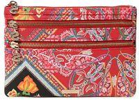 Desigual Multizip Long Wallet Rojo Contra