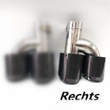 100% Carbon Fiber Auspuffblende Doppel-Auspuff-Rohr Edelstahlrohr 63mm Universal